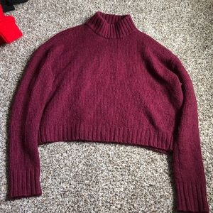American Eagle maroon/purple Sweater